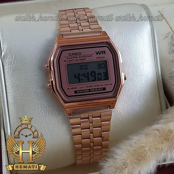 خرید ارزان ساعت اسپرت کاسیو نوستالژی CASIO A159WA-N1DF رزگلد