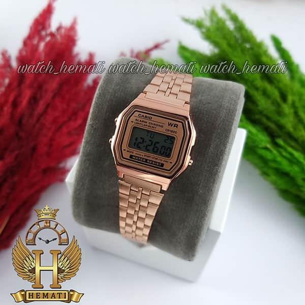 خرید اینترنتی ساعت زنانه کاسیو نوستالژی CASIO A159WA-1 رزگلد