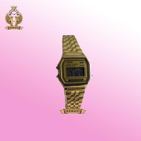 ساعت زنانه کاسیو نوستالژی CASIO A159WA-1 طلایی (صفحه طلایی)
