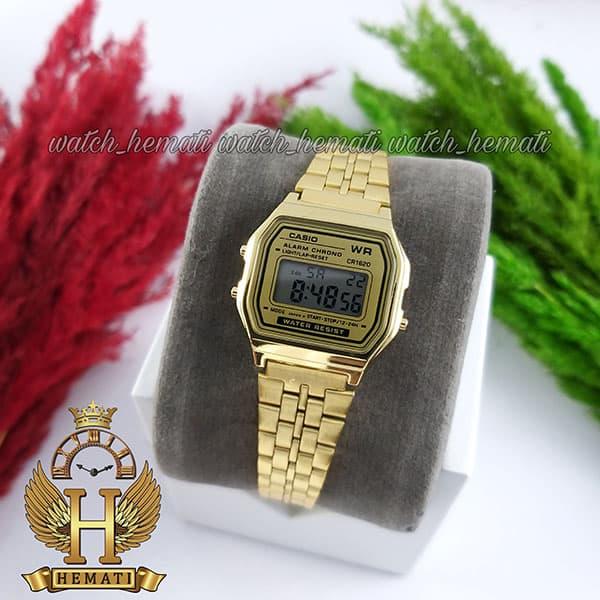 خرید ، قیمت ، مشخصات ساعت زنانه کاسیو نوستالژی CASIO A159WA-1 طلایی (صفحه طلایی)