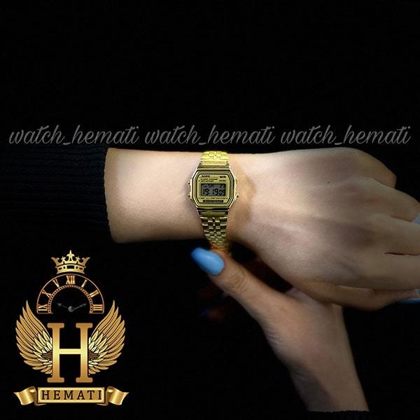 خرید اینترنتی ساعت زنانه کاسیو نوستالژی CASIO A159WA-1 طلایی (صفحه طلایی)