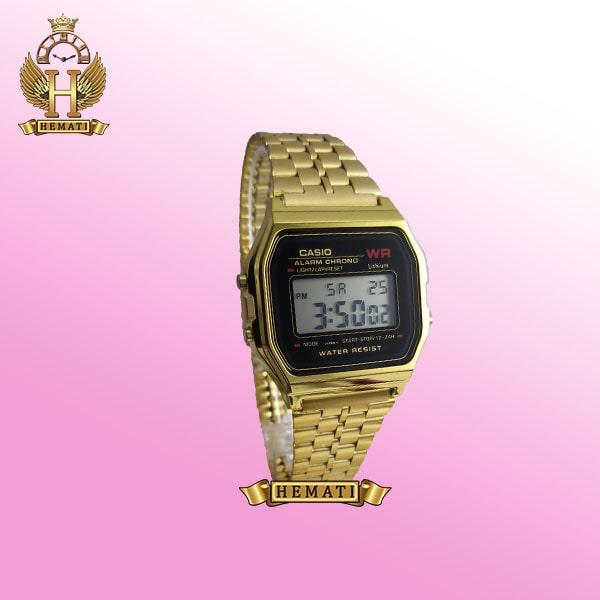 خرید ساعت اسپرت کاسیو CASIO M238G طلایی دورقاب مشکی دیجیتالی