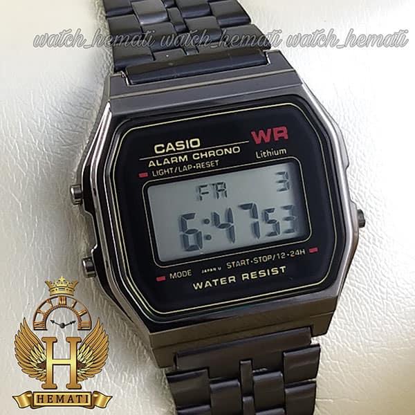 خرید ، قیمت ، مشخصات ساعت اسپرت کاسیو نوستالژی CASIO A159WA-N1DF مشکی