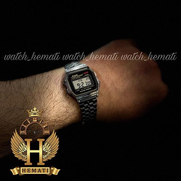 خرید اینترنتی ساعت اسپرت کاسیو نوستالژی CASIO A159WA-N1DF مشکی