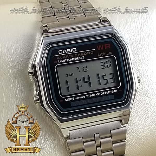 خرید اینترنتی ساعت اسپرت کاسیو نوستالژی CASIO A159WA-N1DF نقره ای