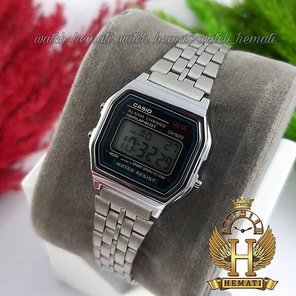 خرید اینترنتی ساعت زنانه کاسیو نوستالژی CASIO A159WA-1 نقره ای