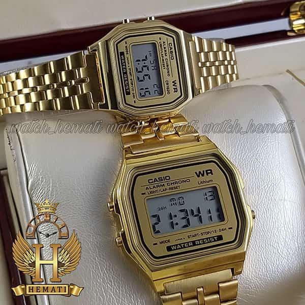 خرید ارزان ساعت ست زنانه و مردانه کاسیو نوستالژی CASIO A159W طلایی