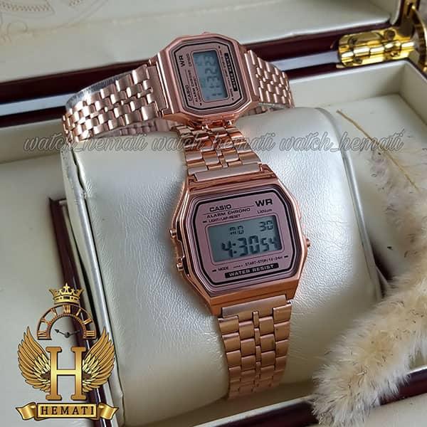 خرید ارزان ساعت ست زنانه و مردانه کاسیو نوستالژی CASIO A159W رزگلد