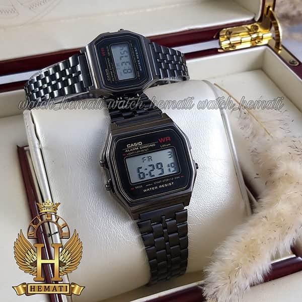 خرید ، قیمت ، مشخصات ساعت ست زنانه و مردانه کاسیو نوستالژی CASIO A159W مشکی