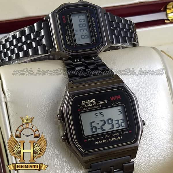 خرید انلاین ساعت ست زنانه و مردانه کاسیو نوستالژی CASIO A159W مشکی