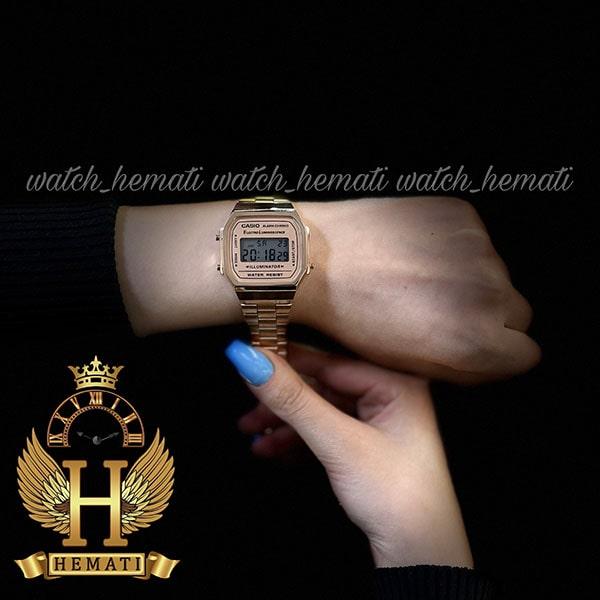 خرید انلاین ساعت اسپرت کاسیو نوستالژی CASIO A168 رزگلد