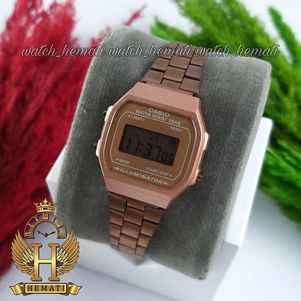 خرید ، قیمت ، مشخصات ساعت زنانه کاسیو نوستالژی CASIO A168W کافی