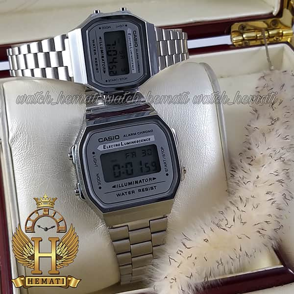 خرید ارزان ساعت ست کاسیو نوستالژی CASIO A168 نقره ای