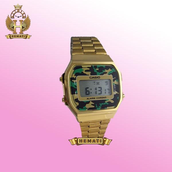 ساعت اسپرت کاسیو CASIO M848N تمام طلایی صفحه چریکی