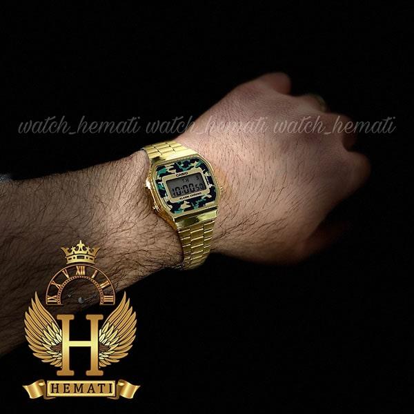 خرید ارزان ساعت اسپرت کاسیو CASIO A168WE طلایی (صفحه چریکی)