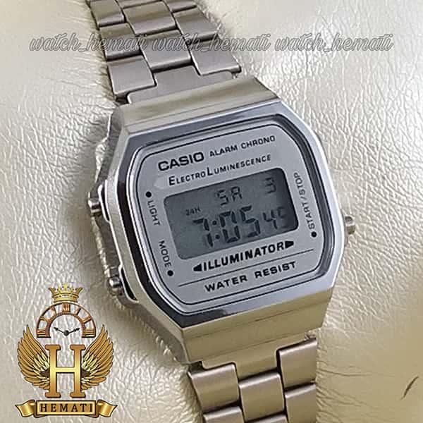 قیمت ساعت زنانه کاسیو نوستالژی CASIO A168W نقره ای