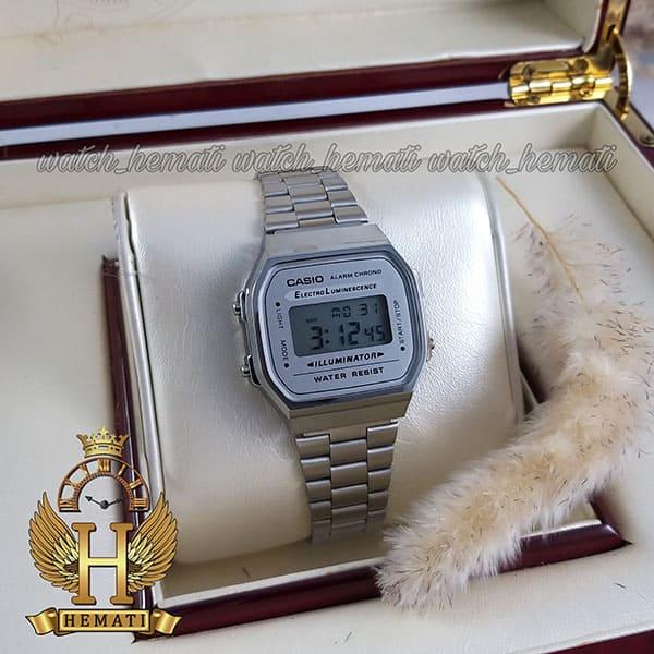 مشخصات ساعت اسپرت کاسیو نوستالژی CASIO A168WE نقره ای