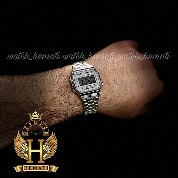 خرید ارزان ساعت اسپرت کاسیو نوستالژی CASIO A168WE نقره ای