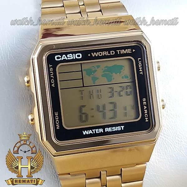 خرید ساعت اسپرت کاسیو نوستالژی CASIO A500W طلایی