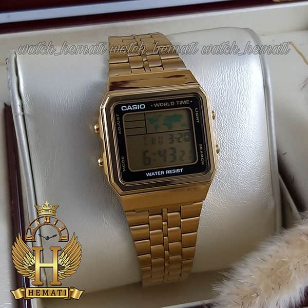 قیمت ساعت اسپرت کاسیو نوستالژی CASIO A500W طلایی