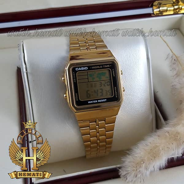 مشخصات ساعت اسپرت کاسیو نوستالژی CASIO A500W طلایی