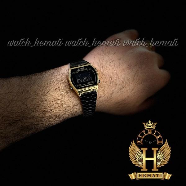 خرید اینترنتی ساعت اسپرت کاسیو نوستالژی CASIO B640W مشکی-طلایی
