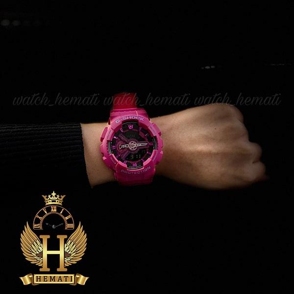 خرید اینترنتی ساعت اسپرت کاسیو جی شاک Casio G-Shock GA-110MP سرخابی