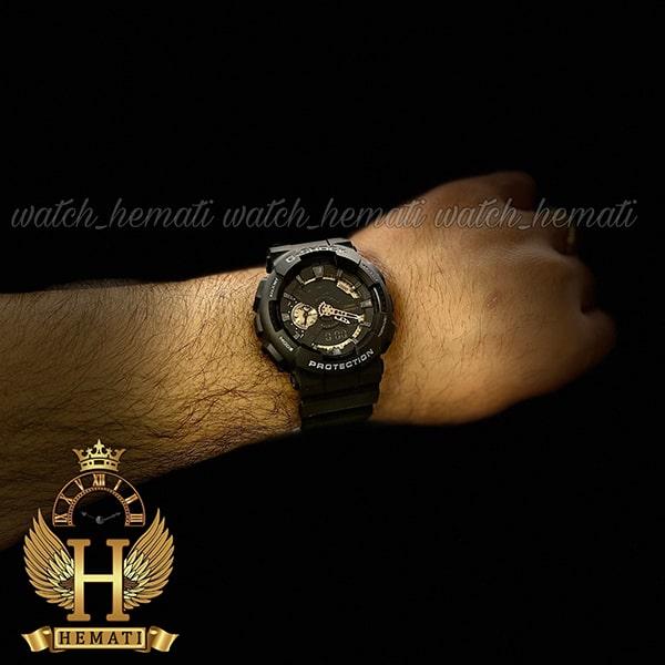خرید ارزان ساعت مردانه کاسیو جی شاک مدل Casio G-Shock GA-110-RC مشکی دارای تقویم