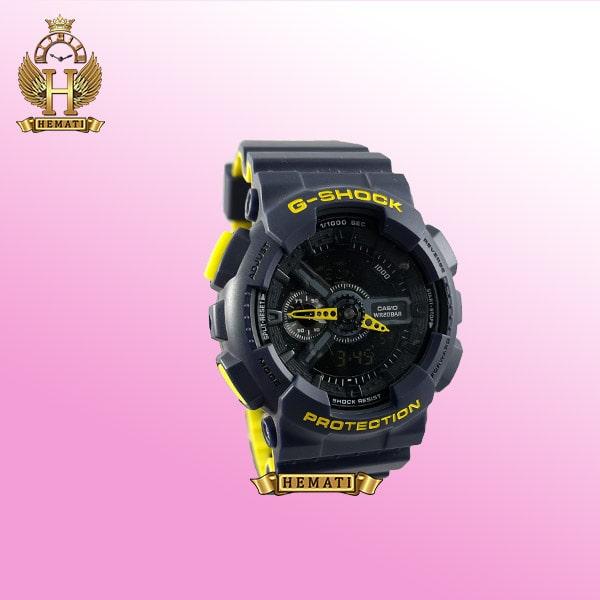 خرید ساعت مردانه کاسیو جی شاک Casio G-Shock GA-110-RG رنگ سرمه ای زرد