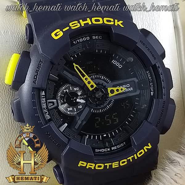 قیمت ساعت مردانه کاسیو جی شاک Casio G-Shock GA-110RG رنگ سرمه ای زرد