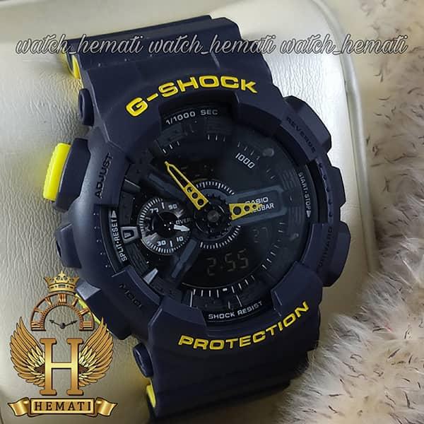 مشخصات ساعت مردانه کاسیو جی شاک Casio G-Shock GA-110-RG رنگ سرمه ای زرد
