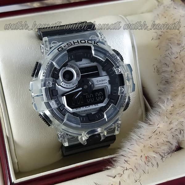 خرید انلاین ساعت مردانه کاسیو جی شاک Casio G-Shock GA-700 با طرح بی رنگ