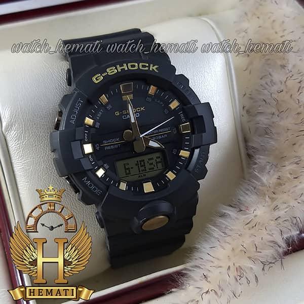 خرید ، قیمت ، مشخصات ساعت اسپرت مردانه کاسیو جی شاک Casio G-Shock GA-810B مشکی و طلایی تقویم دار و چراغ دید در شب