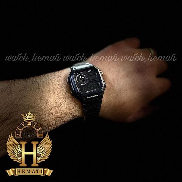خرید اینترنتی ساعت مردانه کاسیو جهان نما Casio World Time AE-1200WHD-1AVDF مشکی