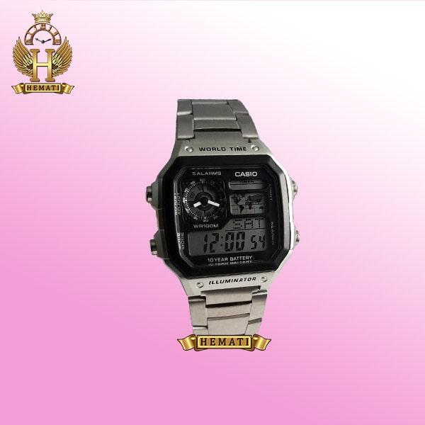ساعت مردانه کاسیو جهان نما Casio World Time AS-1400MN نقره ای