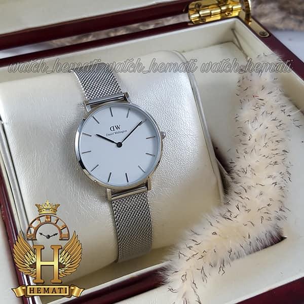 خرید ساعت زنانه دنیل ولینگتون قطر 32 میلیمتر Daniel Wellington DWL13 رنگ نقره ای رنگ صفحه سفید