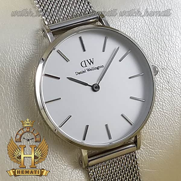 مشخصات ساعت زنانه دنیل ولینگتون قطر 32 میلیمتر Daniel Wellington DWL13 رنگ نقره ای رنگ صفحه سفید