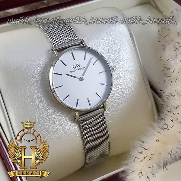 خرید ارزان ساعت زنانه دنیل ولینگتون قطر 32 میلیمتر Daniel Wellington DWL13 رنگ نقره ای رنگ صفحه سفید