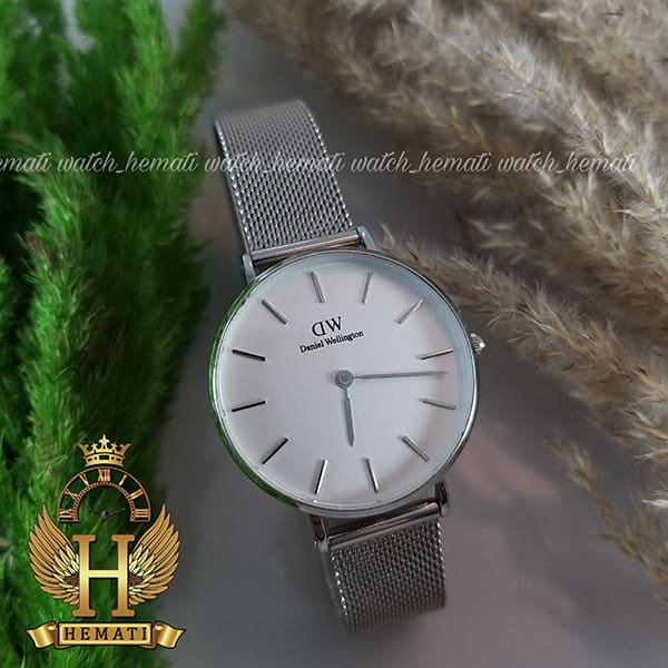 خرید اینترنتی ساعت زنانه دنیل ولینگتون قطر 32 میلیمتر Daniel Wellington DWL13 رنگ نقره ای رنگ صفحه سفید