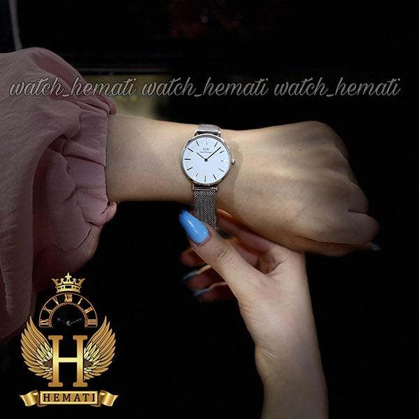 عکس دست ساعت زنانه دنیل ولینگتون قطر 32 میلیمتر Daniel Wellington DWL13 رنگ نقره ای