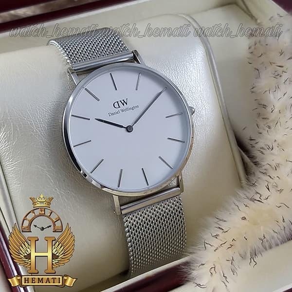 خرید اینترنتی ساعت مردانه دنیل ولینگتون Daniel Wellington DWM14 قاب و بند نقره ای با رنگ صفحه سفید