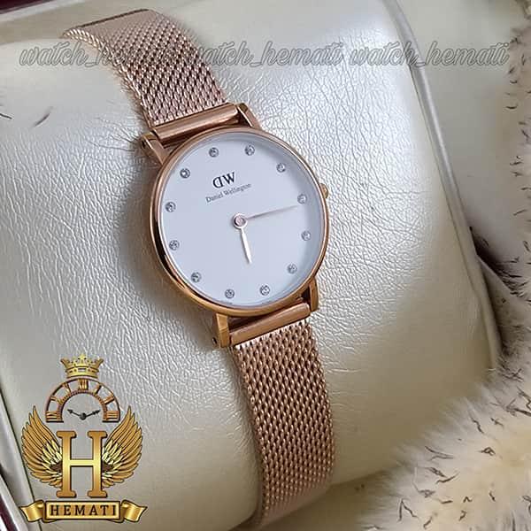 خرید اینترنتی ساعت زنانه دنیل ولینگتون Daniel Wellington DWL10 رنگ رزگلد قطر 26 میلیمتر