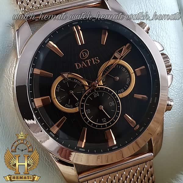 قیمت ساعت مردانه داتیس 3موتوره بند حصیری اورجینال شرکتی DATIS D8307FG