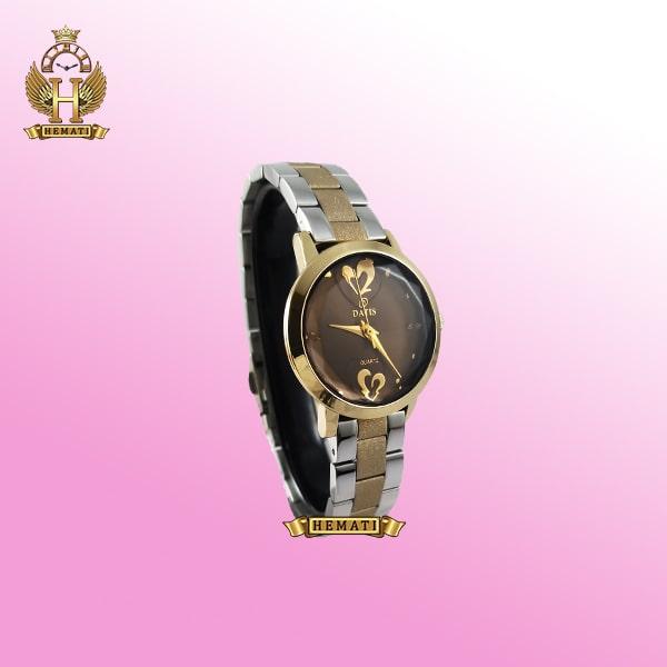 خرید ساعت زنانه داتیس مدل DATIS D8368CL اورجینال بند شنی رنگ رزگلد شیشه کافی