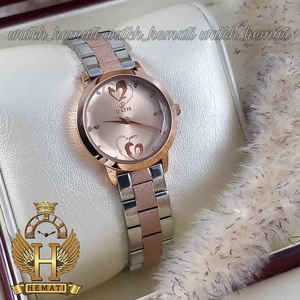 خرید ساعت زنانه داتیس اورجینال مدل DATIS D8368CL نقره ای رزگلد