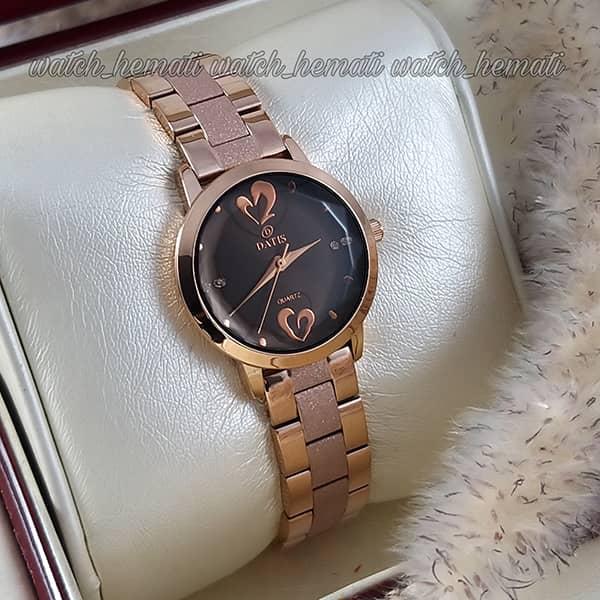 ساعت زنانه داتیس اورجینال رزگلد مدل DATIS D8368CL