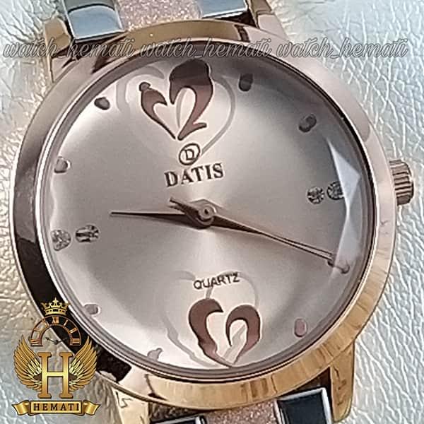 قیمت ساعت زنانه داتیس نقره ای طلایی مدل DATIS D8368CL بند شنی