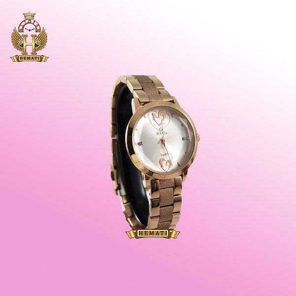خرید ساعت زنانه داتیس مدلDATIS D8368CL اورجینال بند شنی رنگ رزگلد (1)