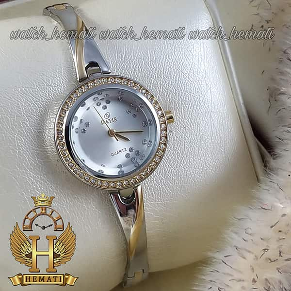 ساعت مچی زننانه داتیس مدل DATIS D8428L نقره ای طلایی