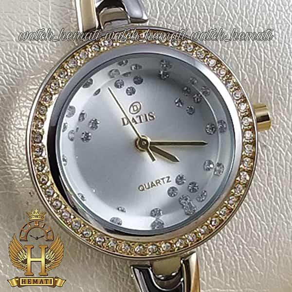 خرید اینترنتی ساعت زنانه داتیس اورجینال مدل DATIS D8428L نقره ای طلایی